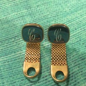 "Other - Vintage. monogrammed mirrored cuff links. ""C"""